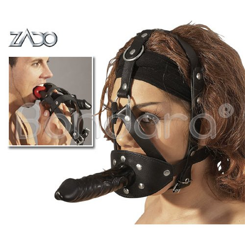 Ball Gag and Dildo Head Harness