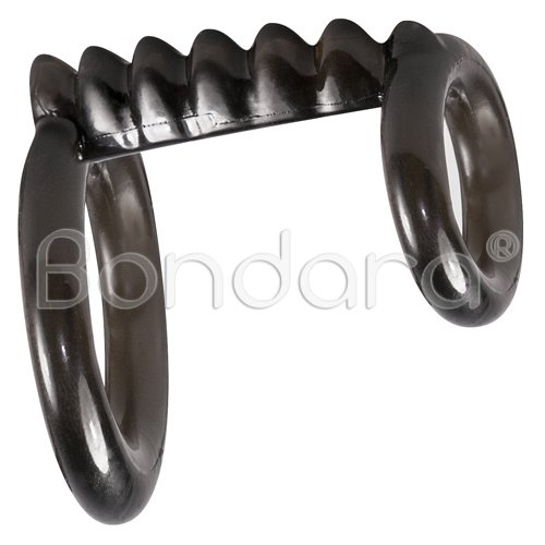 Bad Kitty Black Double Cock Ring And Testicle Ring