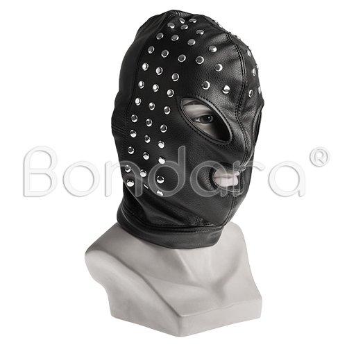 Black Studded Bondage Hood