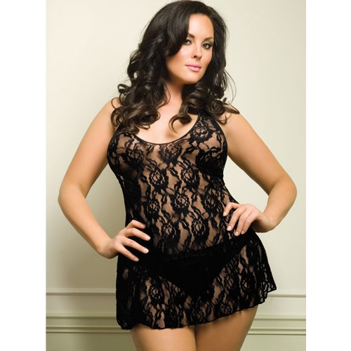 Plus Size Leg Avenue Rose Lace Dress