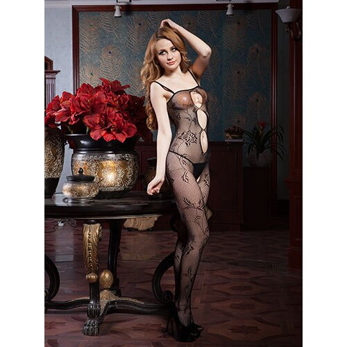 Rose Garden Crotchless Lace Bodystocking