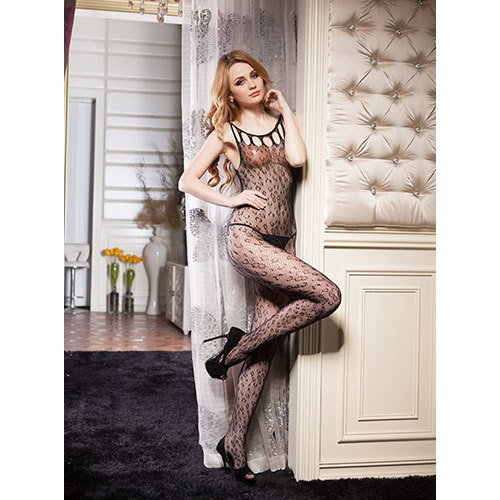 Crotchless Leopard Bodystocking