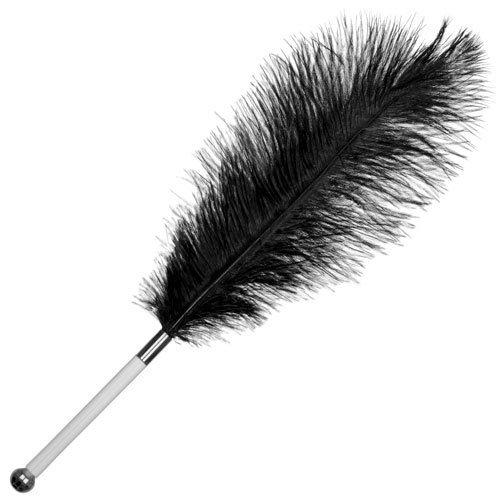 Black Ostrich Feather Tickler - Bondara