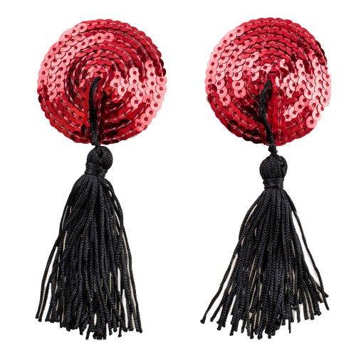 Bondara Red Burlesque Sequin Nipple Tassels