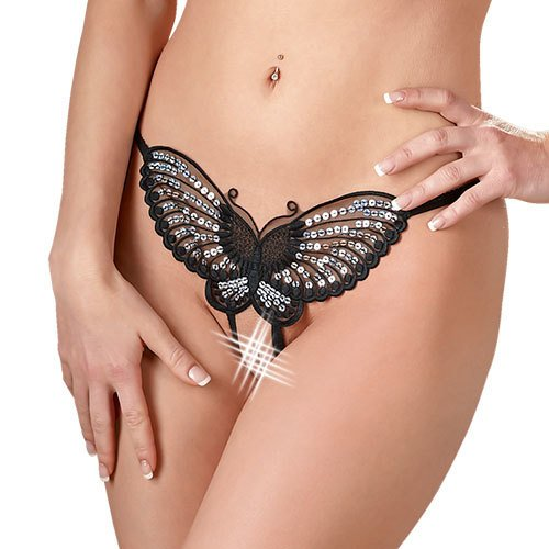 Mandy Mystery Butterfly Sequin Open G-String