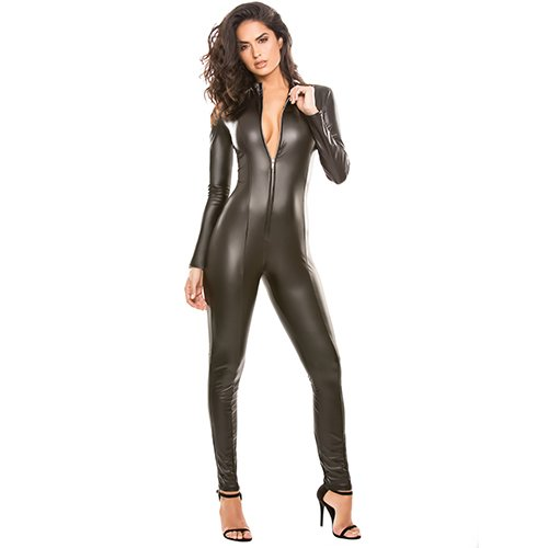 Latex Look Whiplash Catsuit