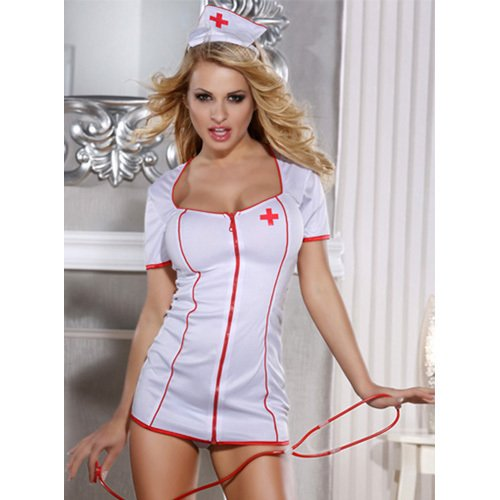 Bondara Seductive White Nurse Dress
