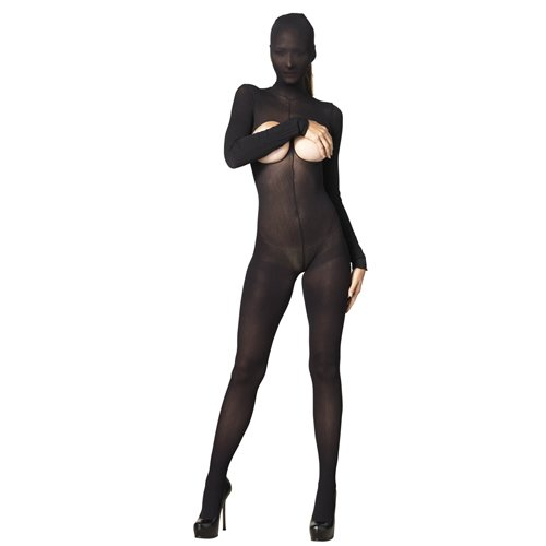 Leg Avenue Kink Hooded Opaque Cupless Bodystocking