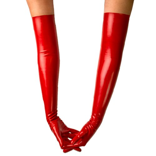 Bondara Latex Red Unisex Burlesque Gloves