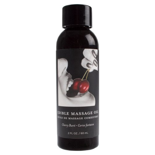Earthly Body Edible Massage Oil 2oz - Cherry