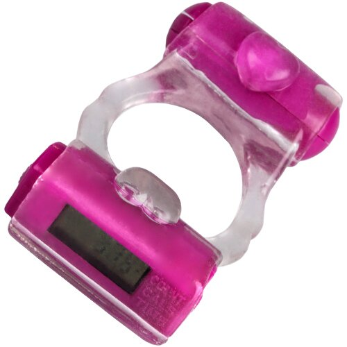 Pink Fitness Cock Ring & Mini vibrator - Bondara
