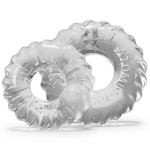 Oxballs Atomic Jock Truckt Clear Set of Two Cock Rings