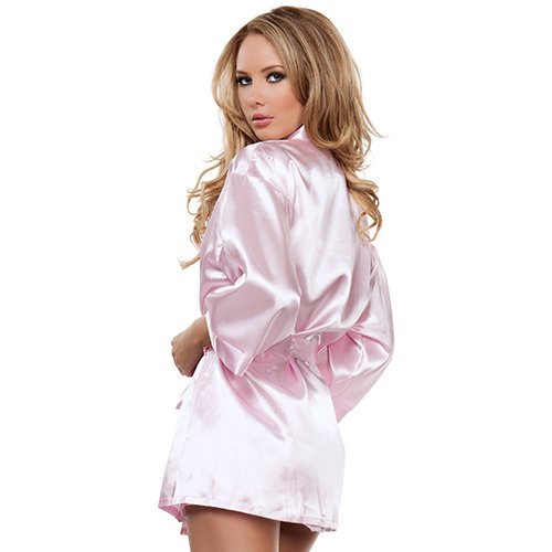 Pink Satin Babydoll and Robe