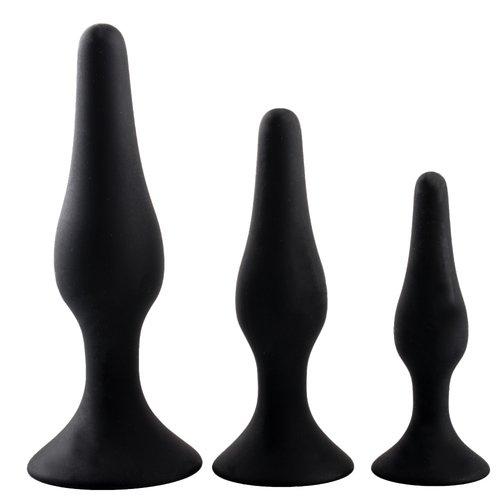 Bondara Black Silicone Butt Plug – 4.5 5 or 6 Inch - Bondara