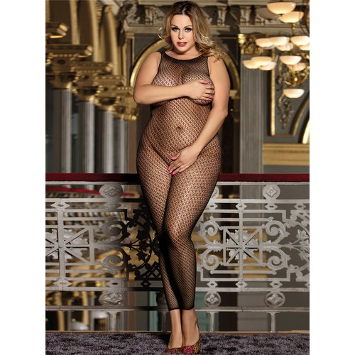 Bondara Belle Plus Size Charm Crotchless Bodystocking