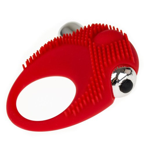 Bondara Red Silicone 10 Function Vibrating Cock Ring