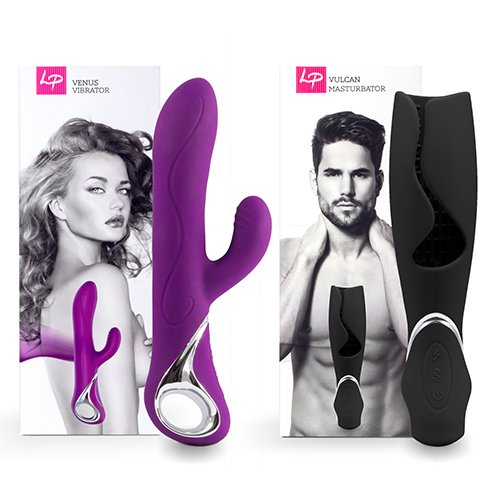 Lovers Premium 10 Function Rabbit and Masturbator Gift Set