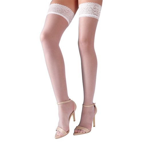 Cottelli Collection White Lace Top Hold Ups