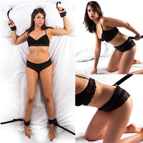 On the Bed Restraint & Doggy Style Strap Set - Bondara