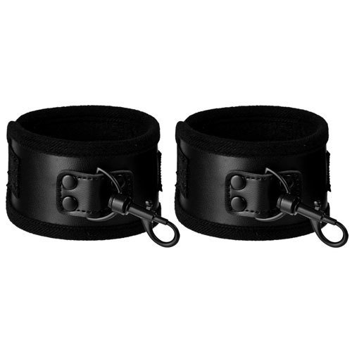 Bondara Beautifully Black PVC Handcuffs - Bondara