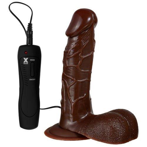 Big Black Thunder Vibrating Suction Dildo - 6.5 Inch - Bondara
