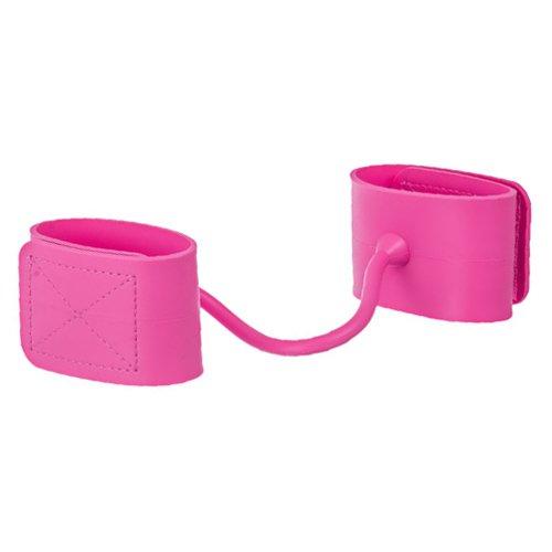 Pink Adjustable Silicone Wrist Cuffs - Bondara