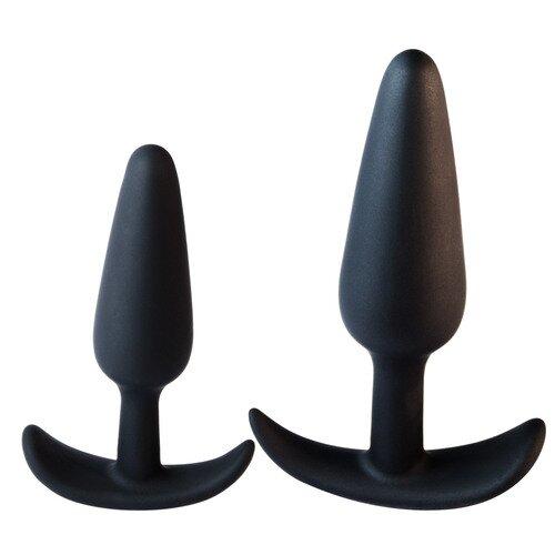 Black Velvet Silicone Butt Plug - Bondara