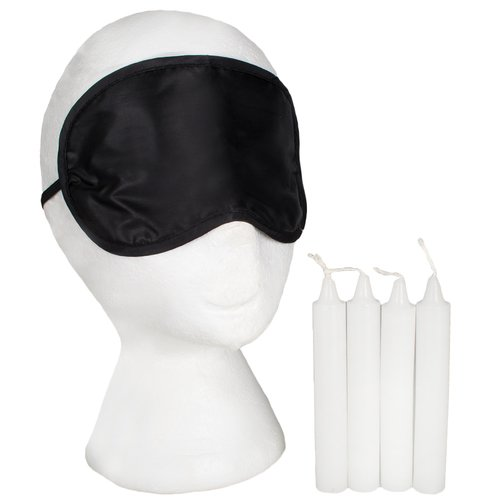 Hot Wax Blindfold and Bondage Candles Kit