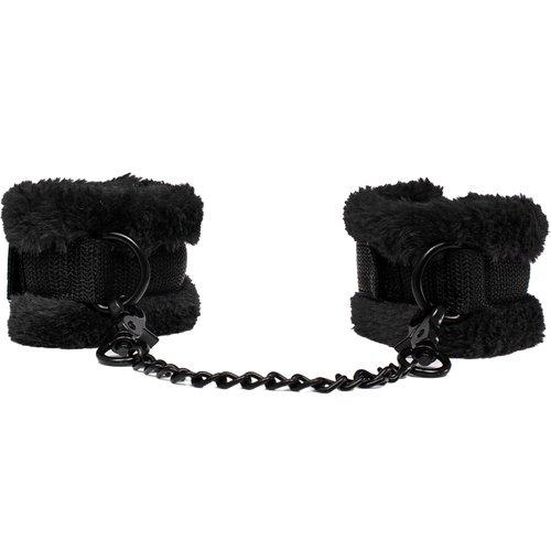 Bondara Soft Touch Black Furry Wrist Cuffs