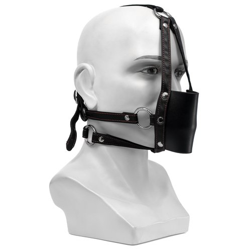 Bondara Faux Leather Ball Gag Muzzle Harness