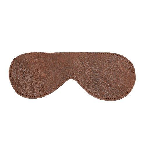 Luxury Brown Leather Blindfold - Bondara