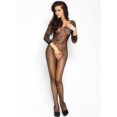 Passion Fishnet Floral Bodystocking