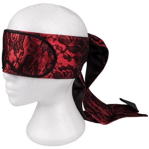 Obsessed Red Luxury Tie Up Blindfold - Bondara