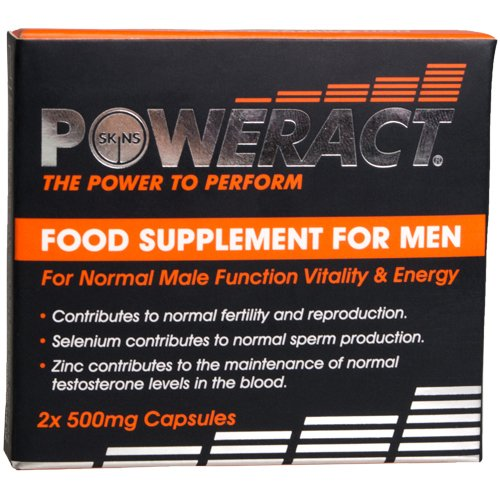Skins PowerAct Male Enhancement Pills- 2 Pack