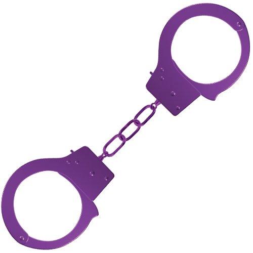 Ouch! Purple Metal Beginner's Handcuffs - Bondara