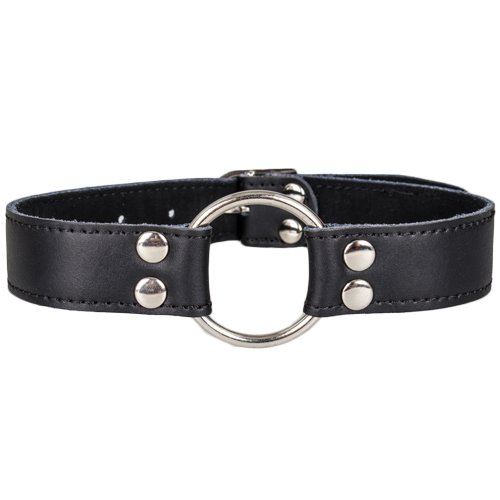 Bondara Faux Leather O-Ring Collar