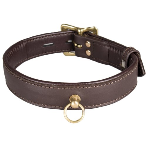 Bondara Luxe Brown Soft Leather Classic Collar