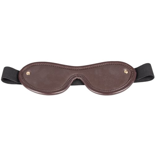 Obey Brown Soft Leather Blindfold - Bondara