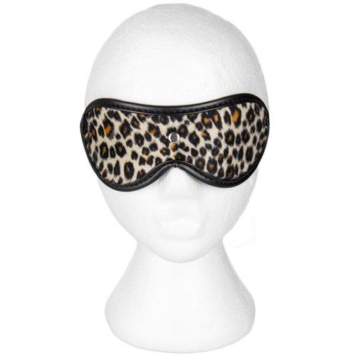 Bondara Leopard Print Faux Fur Blindfold