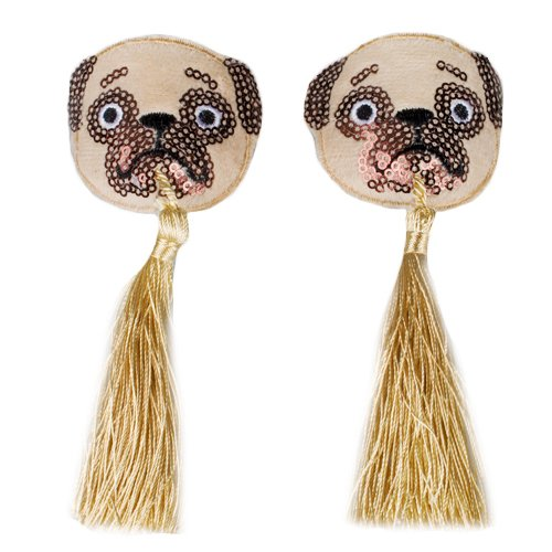 Pug Sequin Nipple Tassels