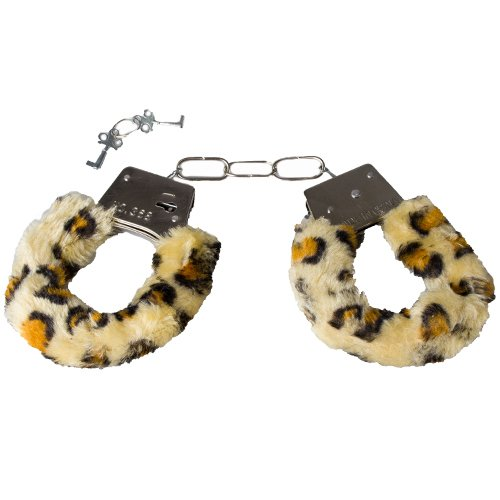 Dare Leopard Print Furry Handcuffs - Bondara