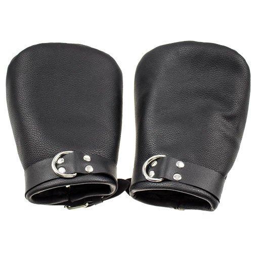 Bondara Black Faux Leather Bondage Mitts