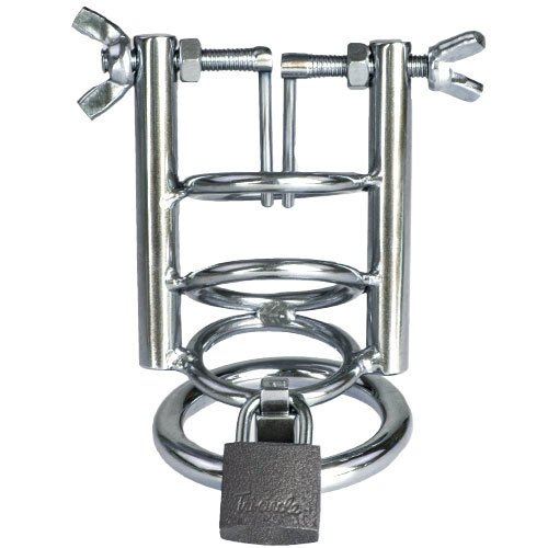 Torment Stainless Steel Urethral Spreader Chastity Cage
