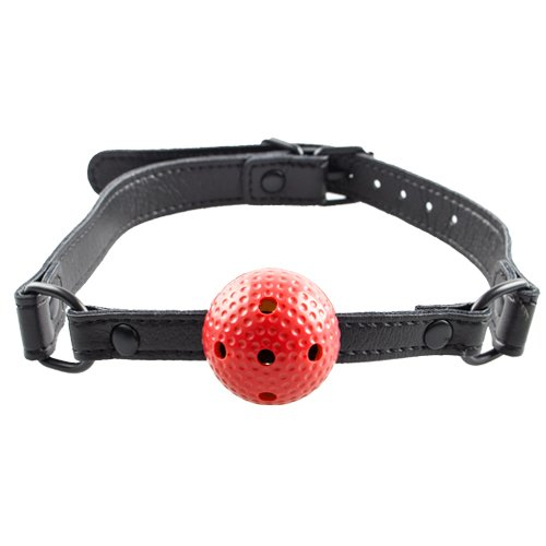 Bondara Red Small Vented Ball Gag - Bondara