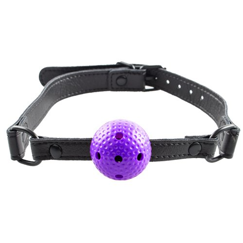 Bondara Purple Small Vented Ball Gag - Bondara