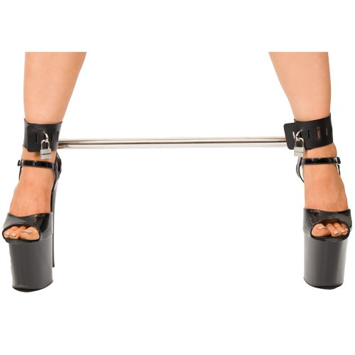 Bondara Spreader Bar With Faux Leather Padlocked Cuffs
