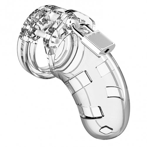 Man Cage Model 1 Clear Lightweight Chastity Cage - Bondara