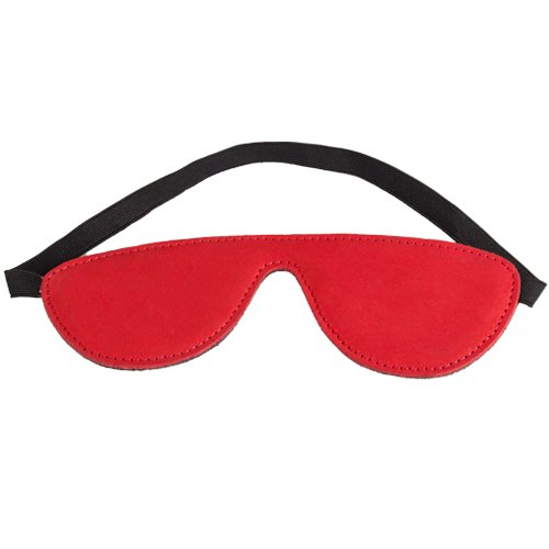Obey Red Nubuck Leather Blindfold - Bondara