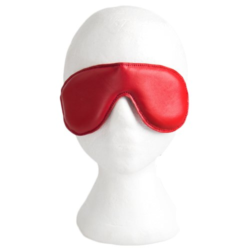 Lair Red Soft Leather Padded Blindfold - Bondara