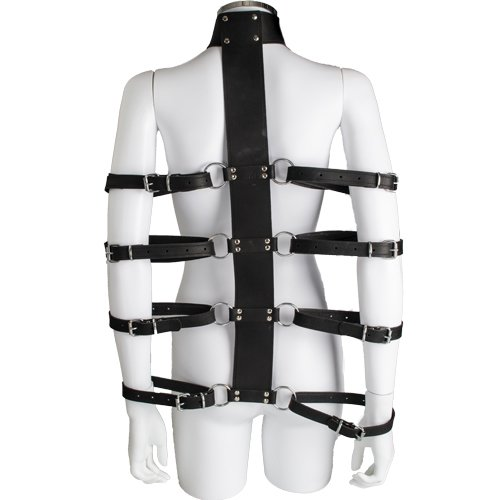 Bondara Luxe Leather Collar and Arm Restraint